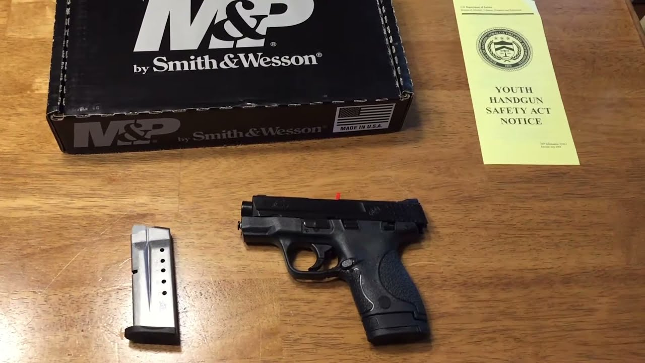 Smith And Wesson 12039 Unboxing: Unboxing My New Smith & Wesson M&P 9mm Shield. 5/13/17