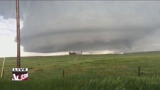 4th tornado caught on live TV near Simla, Colorado