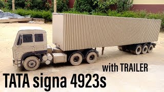 Tata SIGNA 4923s with TRAILER | Diy build with CARDBOARD