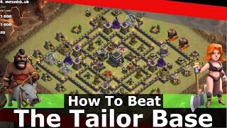 How To Beat The Tailor Base With Low Heroes - Clash Of Clans