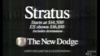 Dodge Stratus Commercial 1995