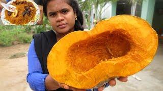 Pumpkin Halwa Recipe | Kaddu Ka Halwa | Poosanikai Halwa | VILLAGE FOOD
