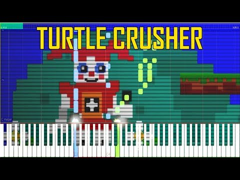 Turtle Crusher (Minigame Music) - FNaF Sister Location [Synthesia Piano Tutorial]