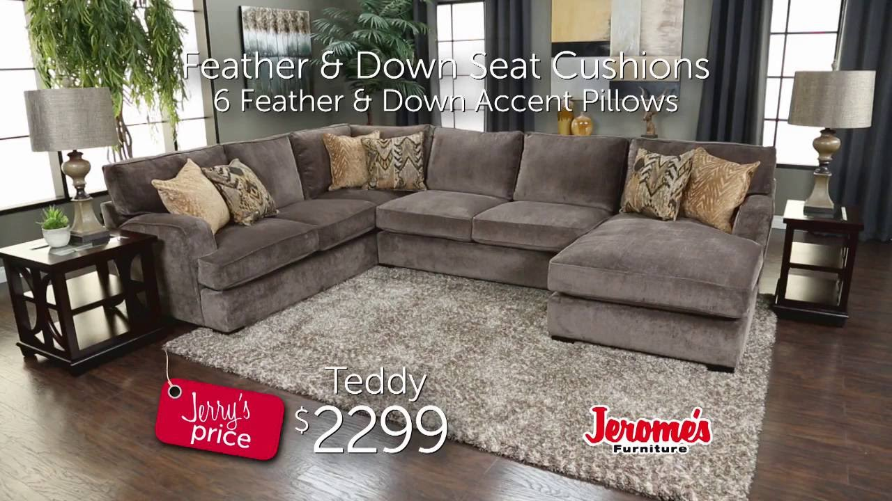 Jerome S Furniture Teddy Sectional Youtube