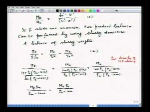 Mod-01 Lec-11 Materials Balance in Mineral Processing and Fa