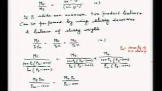 Mod-01 Lec-11 Materials Balance in Mineral Processing and Faq