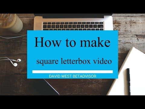 How to make square letterbox video for Facebook and Instagram with Camtasia 2017