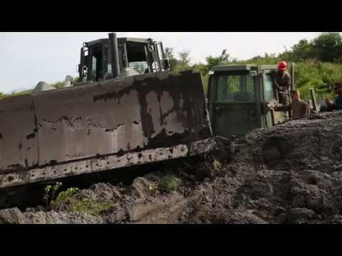 Philippines and  U.S. Marines - Recover a Military Heavy Equipment Stuck in the Mud
