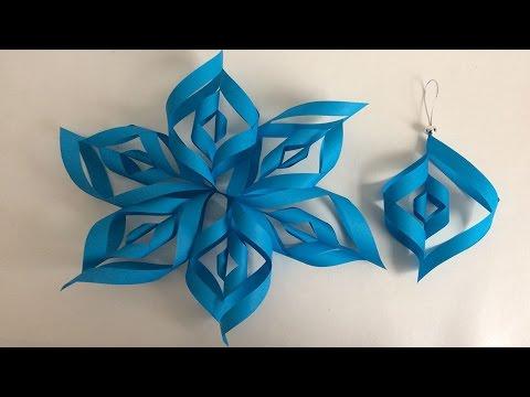 Decoraciones navideñas, ideas para árbol de navidad, flor de papel,  Christmas decorations,