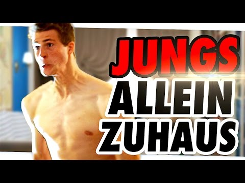 WENN JUNGS ALLEINE ZUHAUSE SIND...
