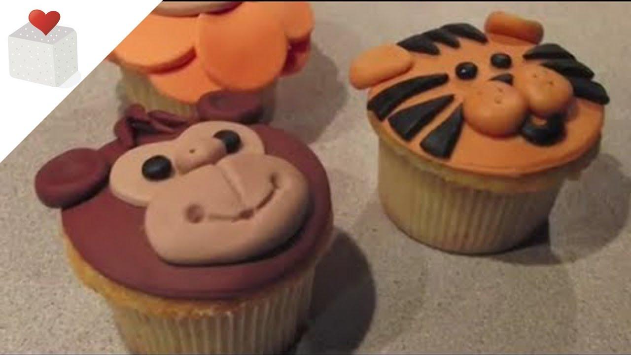 C mo hacer cupcakes animales de la selva le n mono y for Imagenes de estanques decorados
