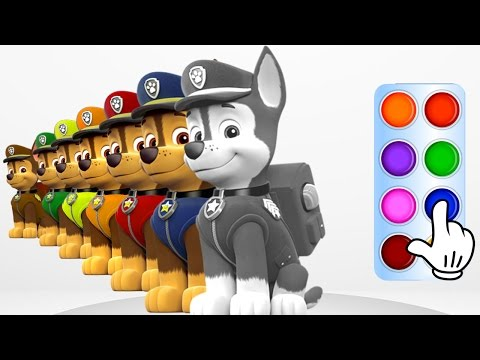 Learn Colors with Cute Police Dog - Learning Flashy Color Animation for Baby Toddlers, Kids Part 3