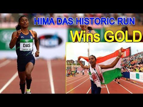 Hima Das Historic 400m Run of India Wins Gold in World Championships