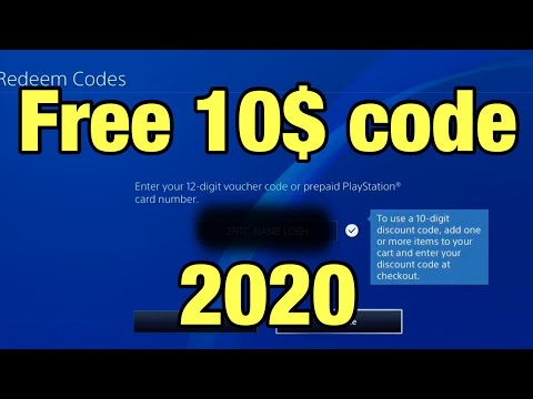 Free 10$ PS Store Promo Code 2020 *UNPATCHED*