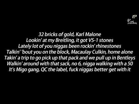 Migos ft. Rick Ross - Black Bottles (Lyrics & HQ)