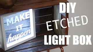 TARGET INSPIRED DIY ETCHED LIGHT BOX    KATIE BOOKSER