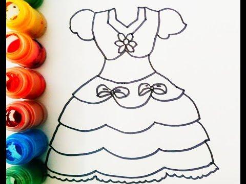 Como Dibujar Y Vestidos De Color De La Princesa Aprender Librea Video Para Ninos Abs Channel Youtube