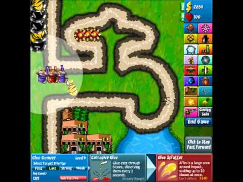 Bloons Tower Defense 4 Track 4, Tap Track, Hard Walkthrough