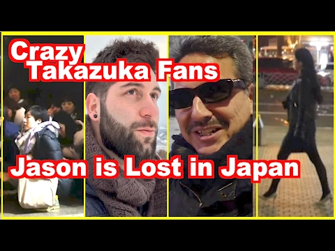 Bizarre Takarazuka worshippers stand up & sit down while Jason is Lost in Japan