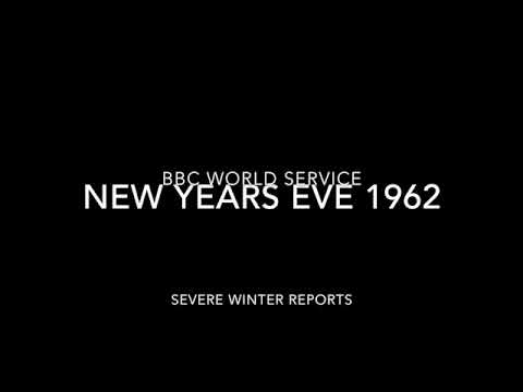 BBC WORLD SERVICE 1962 New Years Eve Radio News Severe Winter