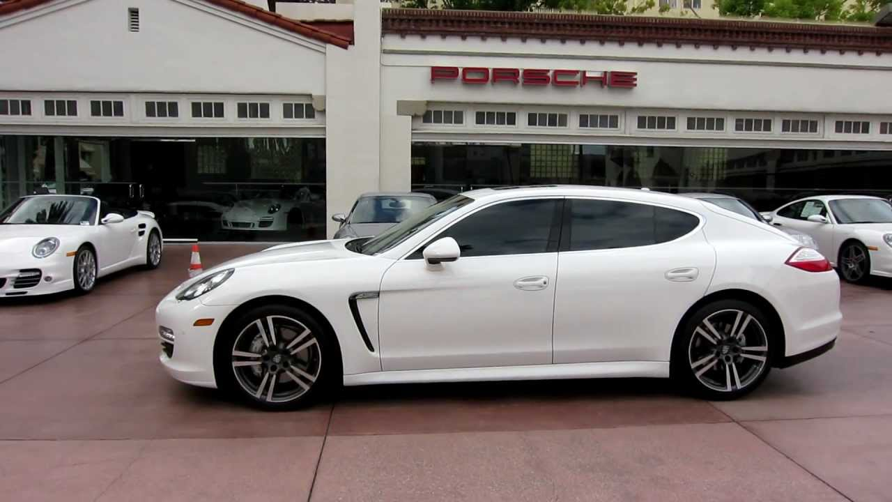 2012 porsche panamera s carrara white with black leather 20 turbo ii wheels rearview camera youtube