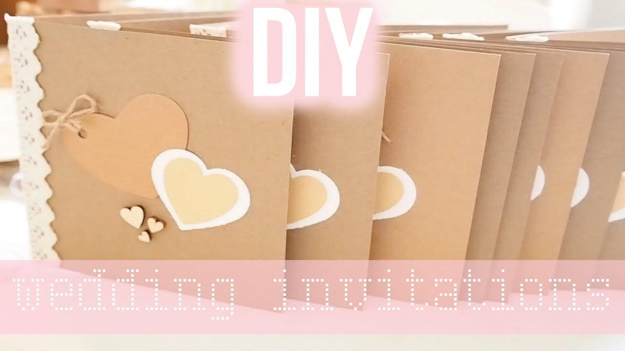 DIY Rustic Wedding Invitations (Easy) | Frankie Amelia - YouTube