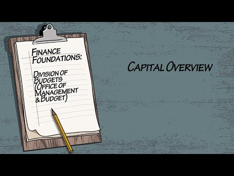 Finance Foundations Division of Budgets (Office of Management & Budget) - Capital Overview