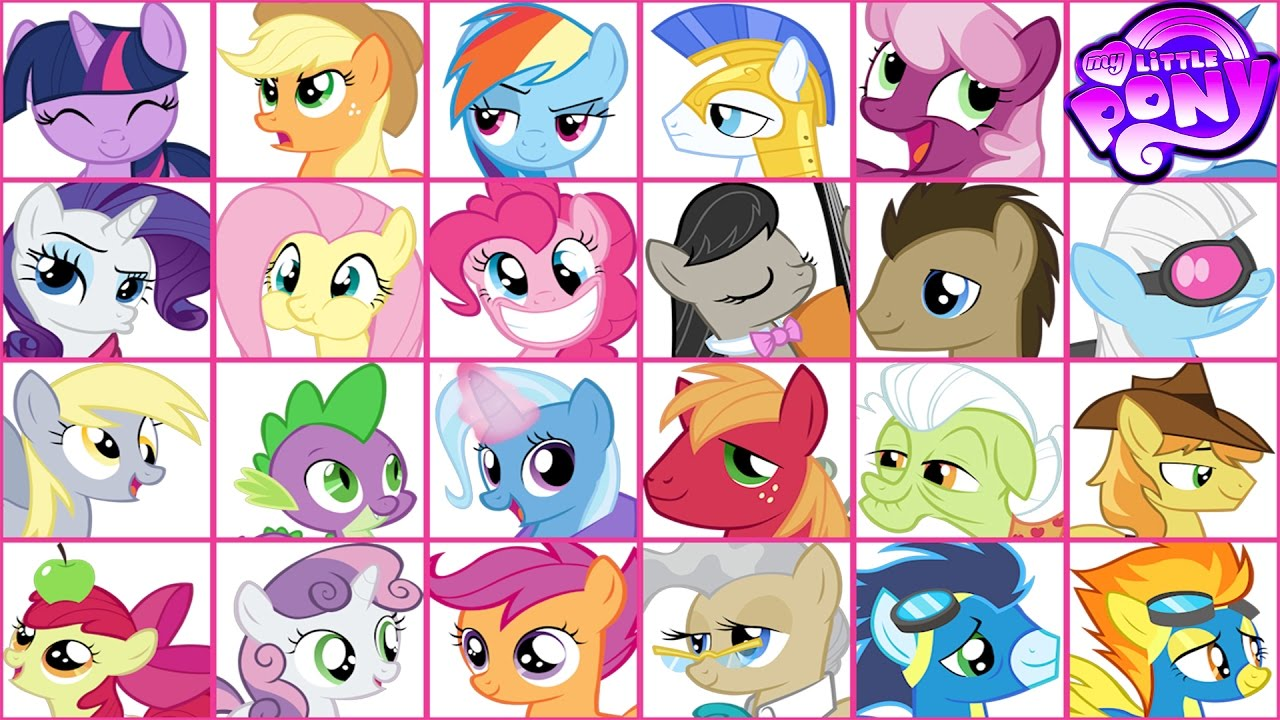 My Little Pony Emoji Coloring Book Mane 6 Spike And Others