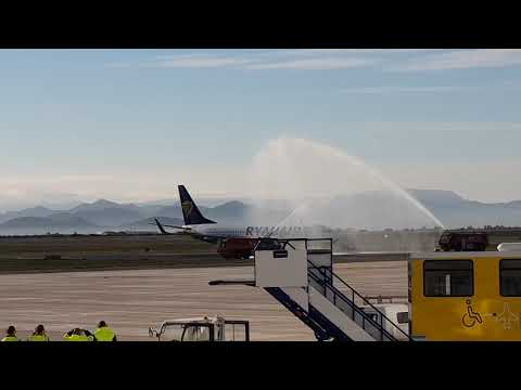 First commercial flight into Murcia Corvera airport