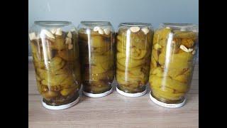 Маринованный перец на зиму Потрясающий вкус Очень простой и легкий рецепт Консервация на зиму