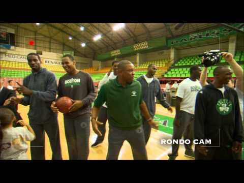 Rajon Rondo shows his Skills as a Cameraman