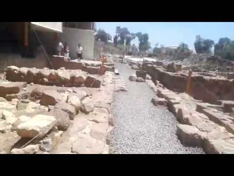Magdala - visiting the synagogue from the time of Jesus. The place where Mary Magdalene lived