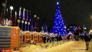 Красивый зимний Ростов, Winter Rostov on Don, Christmas Rostov-on-Don