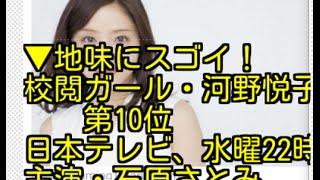 地味にスゴイ!校閲ガール・河野悦子 日本テレビ、水曜22時、主演・石原...