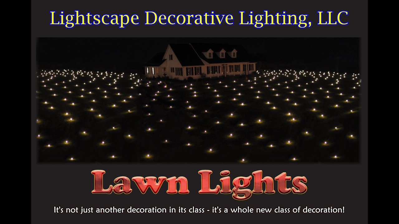 Lawn Lights - Outdoor Christmas Display Decoration, New! - YouTube