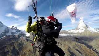 Paralysed Passenger fly from Breithorn 4164m with Air Taxi Zermatt