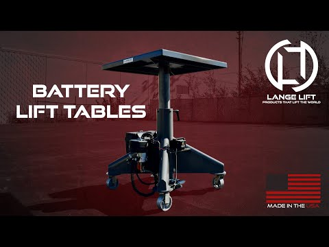 Battery Powered Hydraulic Lift Tables | Lange Lift