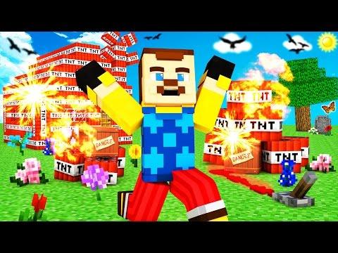 Minecraft - HELLO NEIGHBOR - EXPLODING TNT TROLL?!