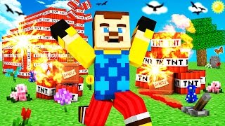 Minecraft - HELLO NEIGHBOR - EXPLODING TNT TROLL?!