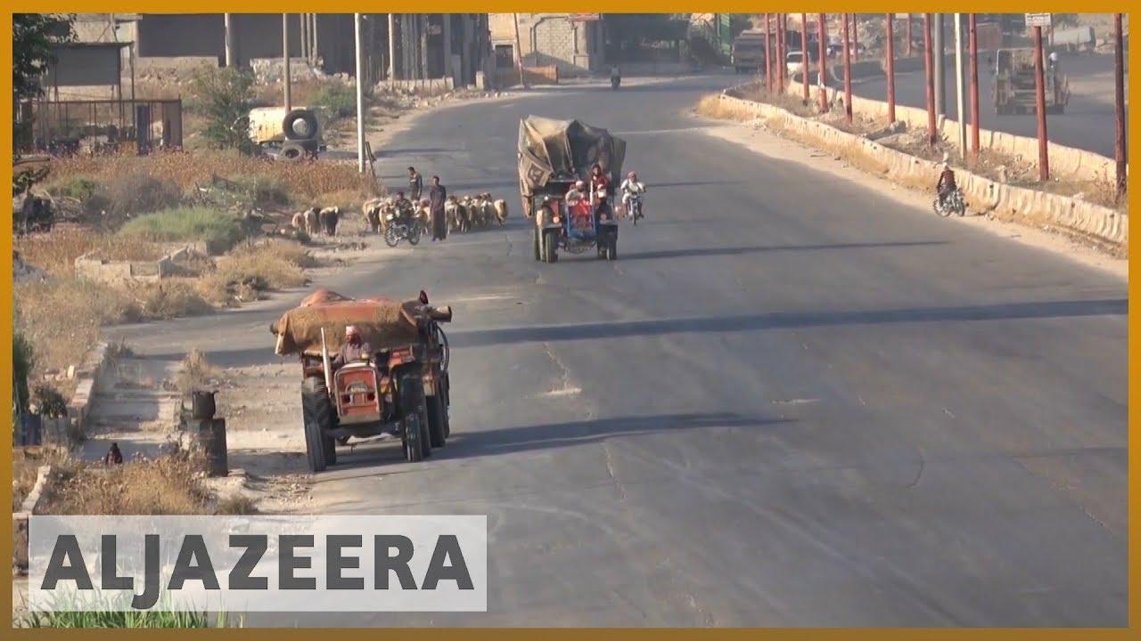 AlJazeera English:Syrian rebels withdraw from strategic Idlib town