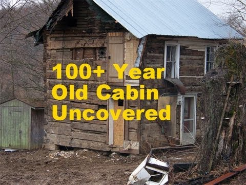 100 Year Old Log Cabin Uncovered Youtube