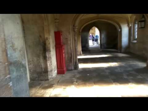 Inside of the most famous bridge in Cambridge, St. Johns College