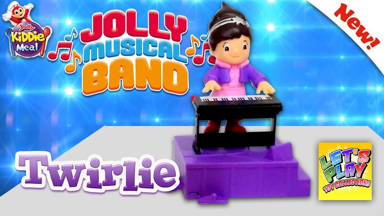 2017 Jolly Musical Band Twirlie Jolly Kiddie Meal Toys