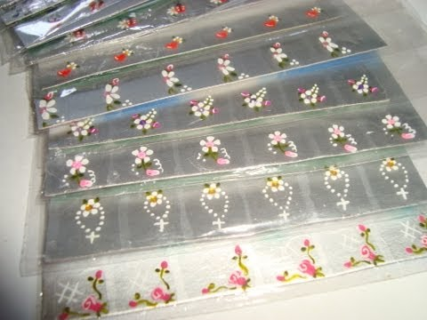 UNHAS | O que usar para fazer adesivos de unhas? -  Parte 1