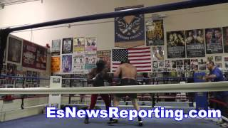 Tommy Morrison Son Trey Sparring Looking Like A Champ - Esnews Boxing