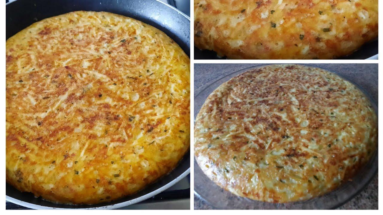 tortilla de patatas jugosa y muy rica al estilo marroquí /receta de cocina