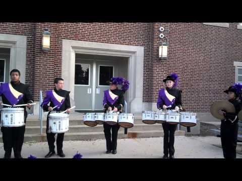 Rantoul Township High School drumline warm up '13
