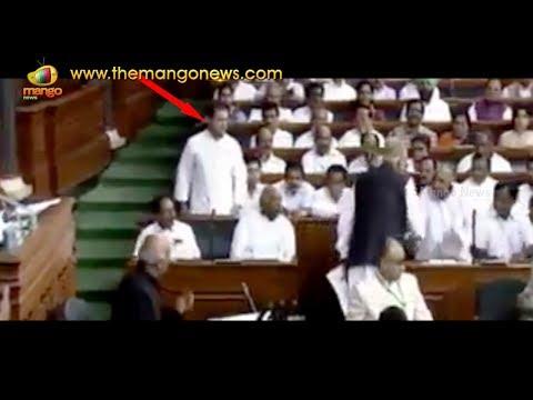 Rahul Gandhi Funny Moment At Lok Sabha   Mango News