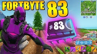 Fortnite Fortbyte 83 🗿 Rock Garden | All Fortbyte Location Season 9 Utopia Skin Deutsch