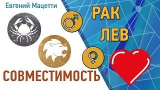 видео Знаки зодиака совместимость мужчина рак и женщина лев